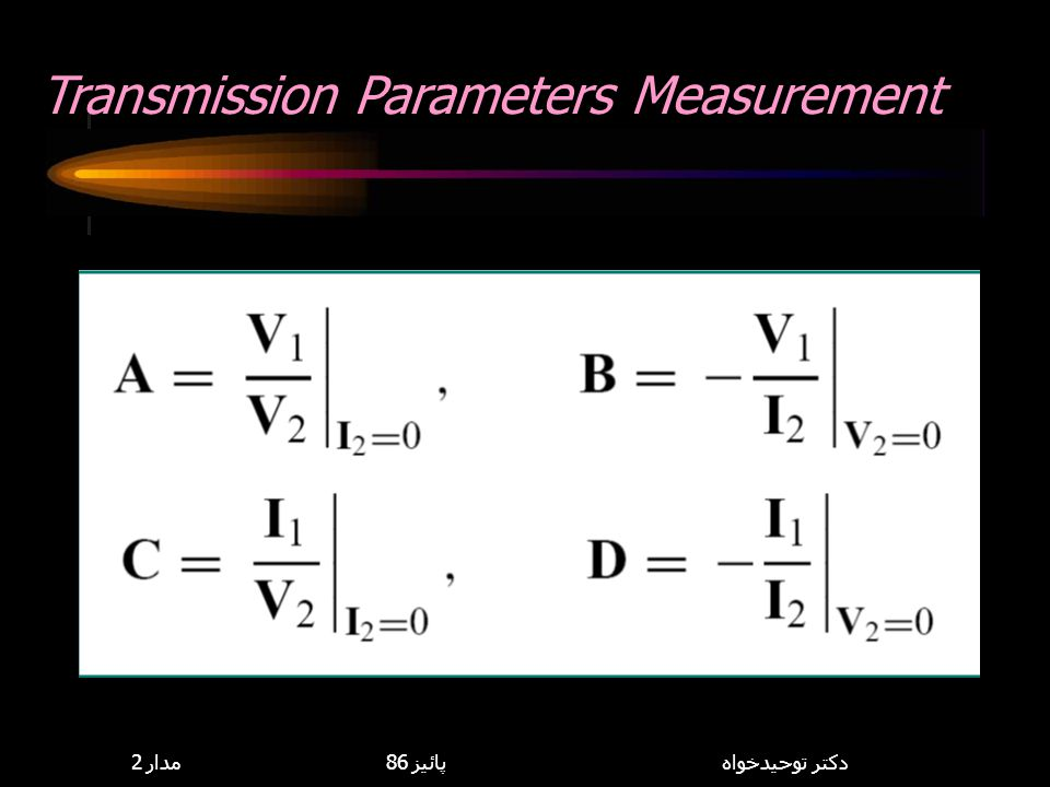 Transmission Parameters Measurement
