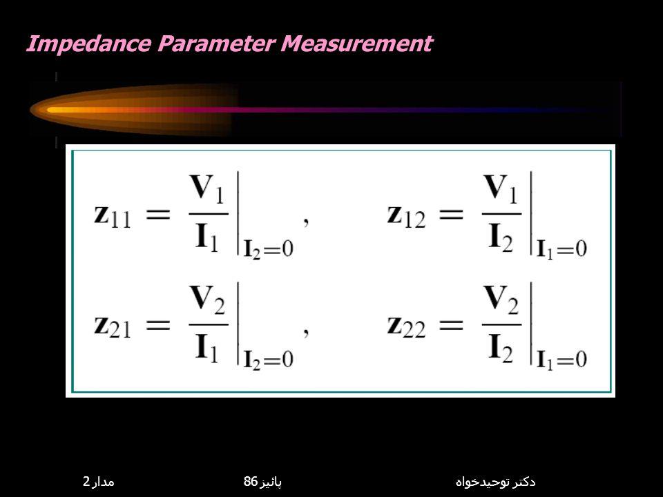 Impedance Parameter Measurement
