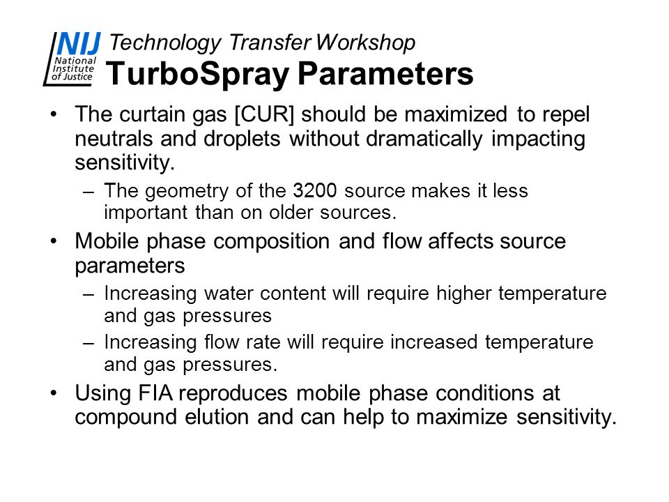 TurboSpray Parameters