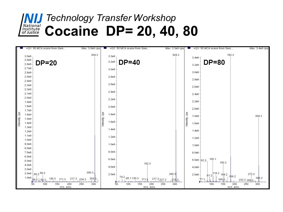 Cocaine DP= 20, 40, 80 DP=20 DP=40 DP=80