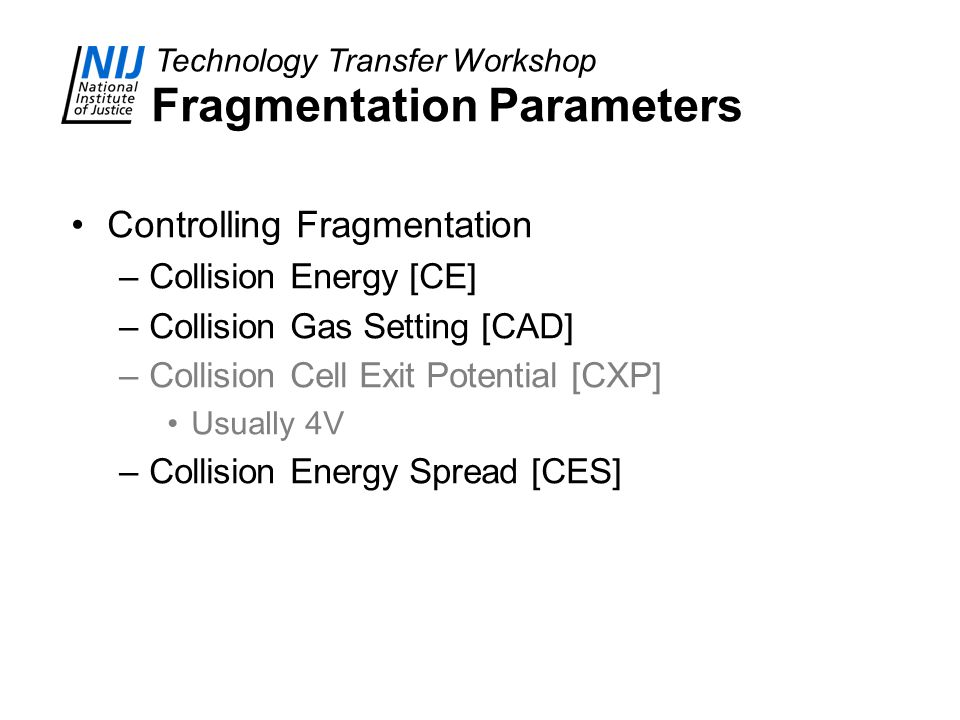 Fragmentation Parameters