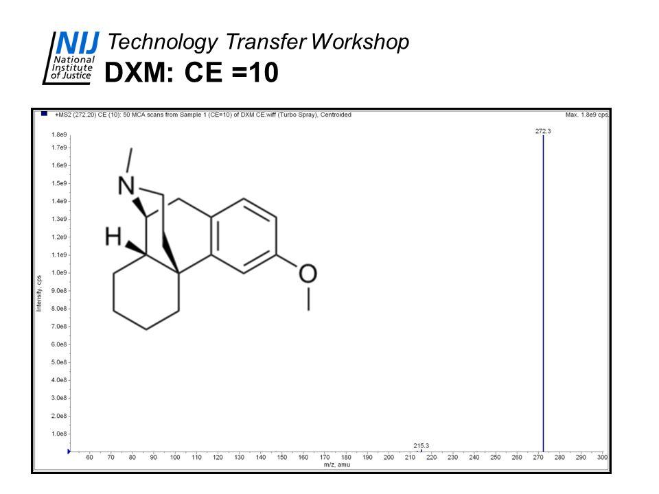 DXM: CE =10
