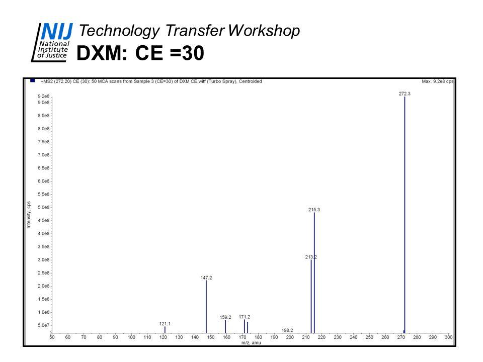 DXM: CE =30