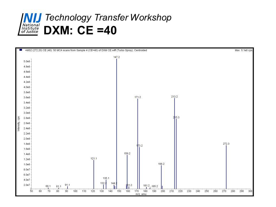 DXM: CE =40