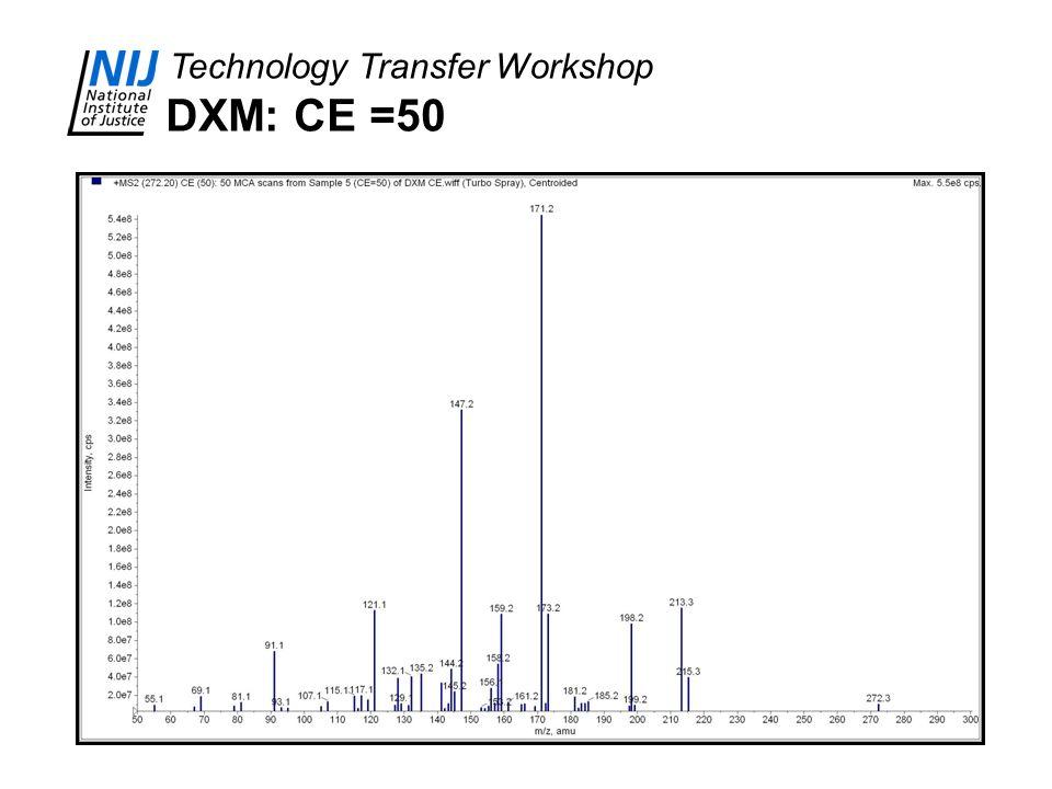DXM: CE =50