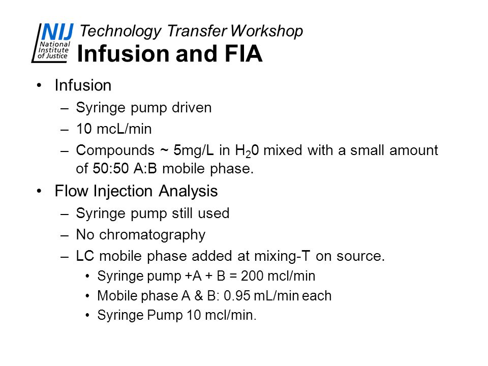 Infusion and FIA Infusion Flow Injection Analysis Syringe pump driven
