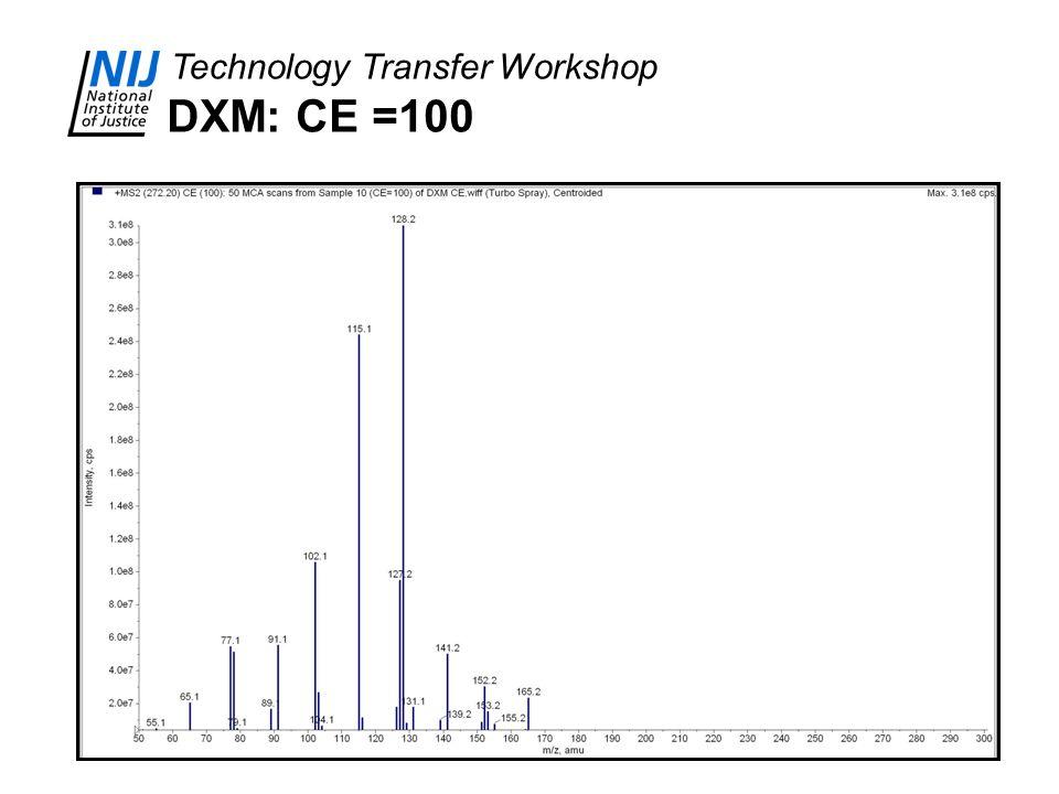 DXM: CE =100