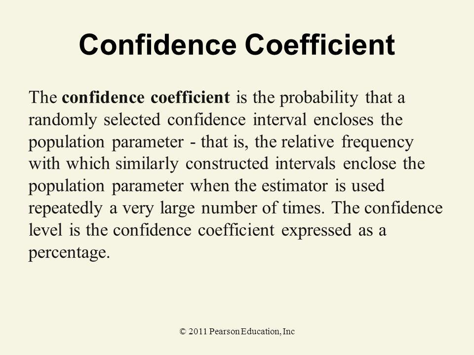 Confidence Coefficient