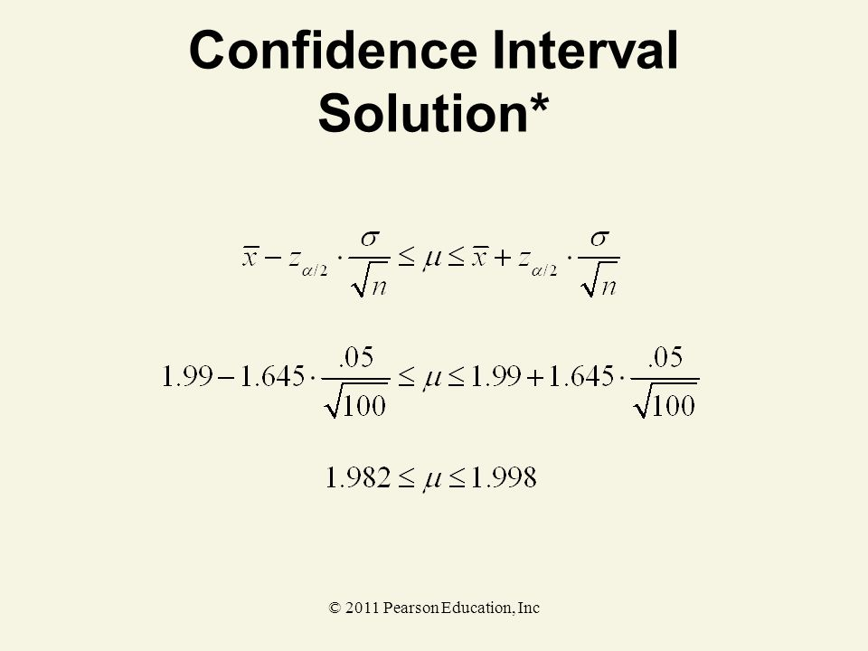 Confidence Interval Solution*