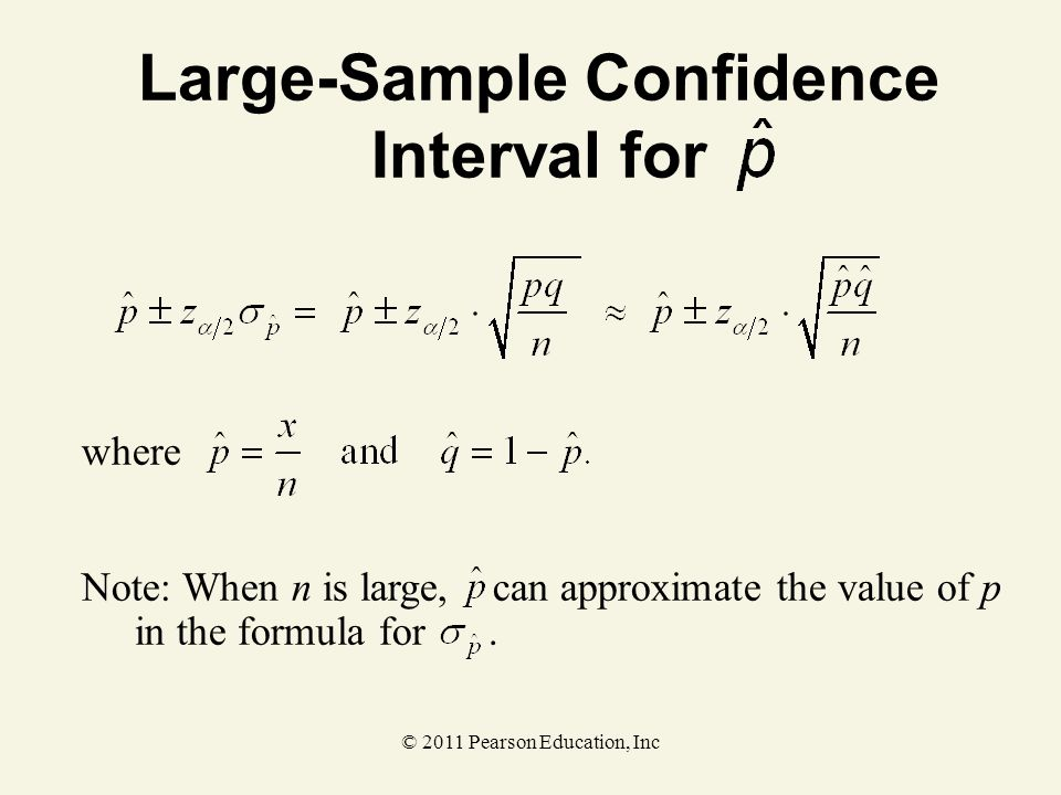 Large-Sample Confidence Interval for
