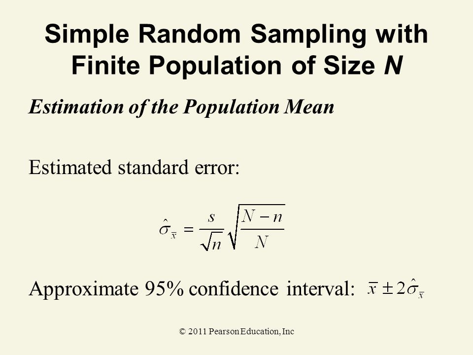 Simple Random Sampling with Finite Population of Size N
