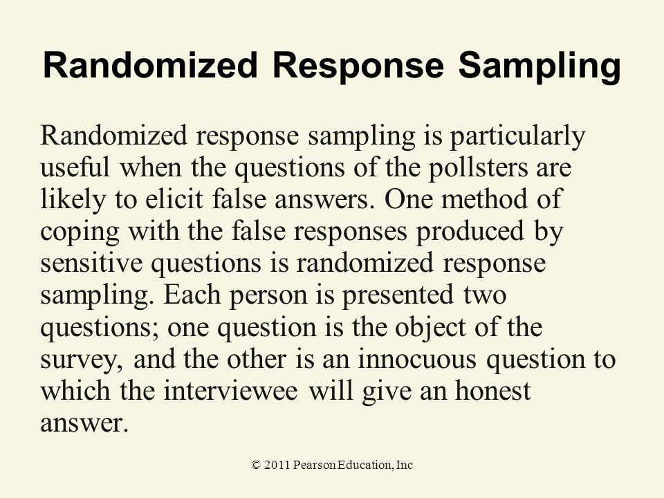 Randomized Response Sampling