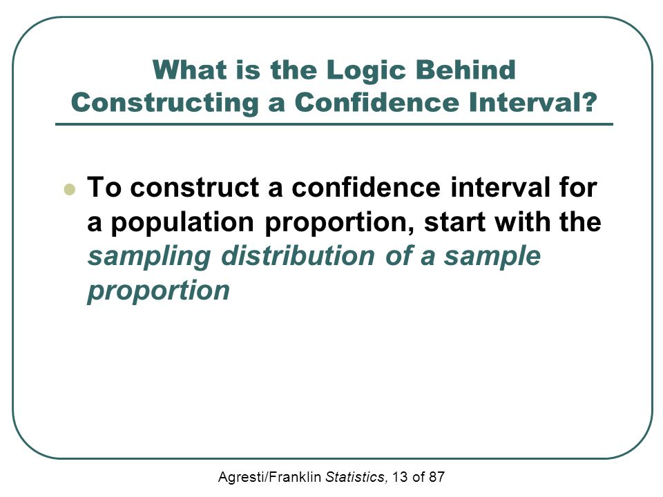 What is the Logic Behind Constructing a Confidence Interval