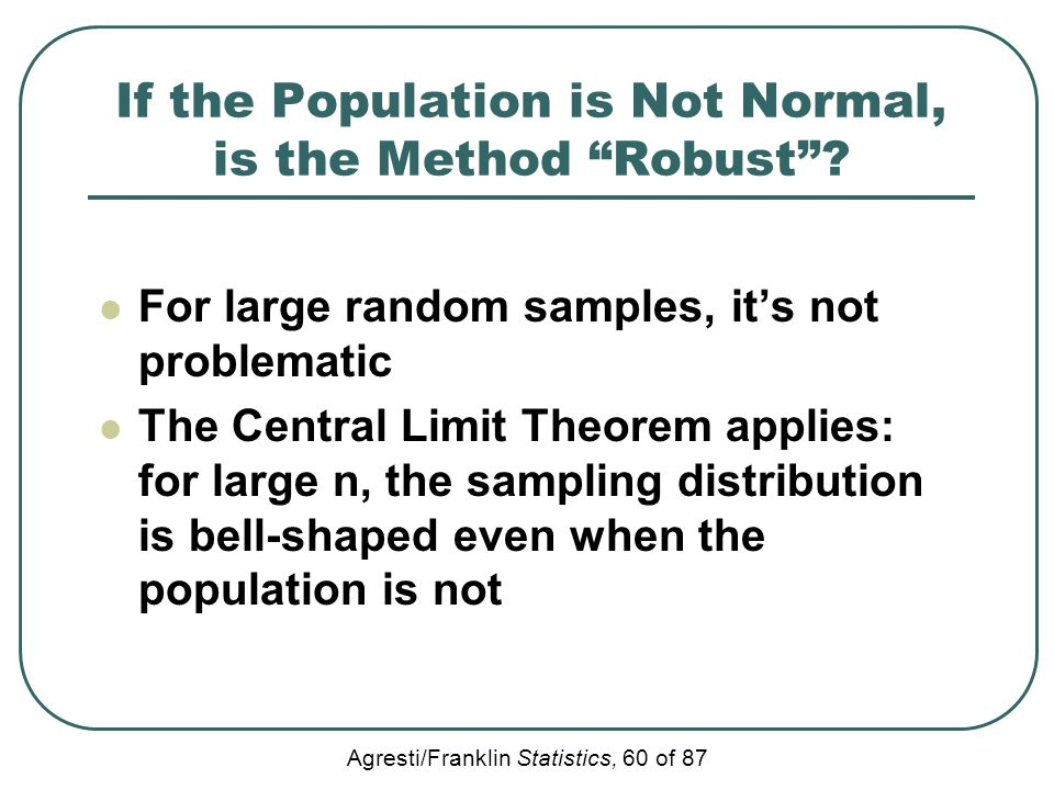 If the Population is Not Normal, is the Method Robust