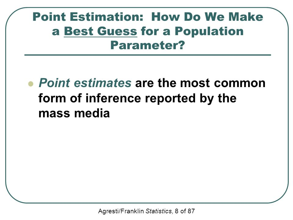 Point Estimation: How Do We Make a Best Guess for a Population Parameter