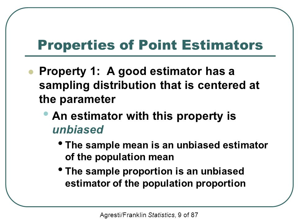 Properties of Point Estimators