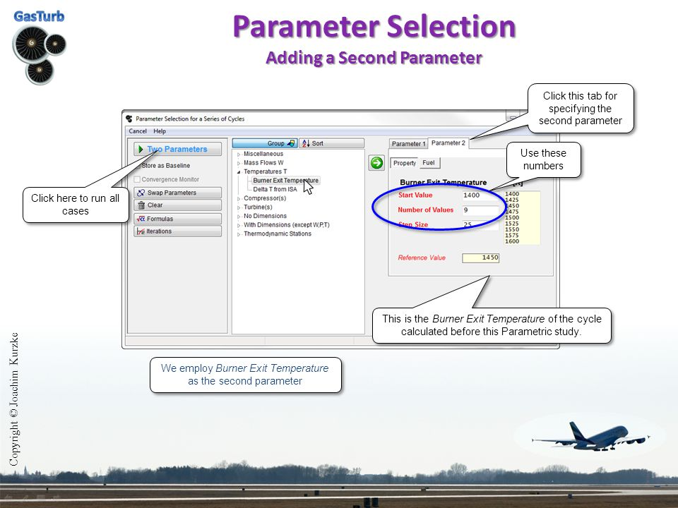 Parameter Selection Adding a Second Parameter