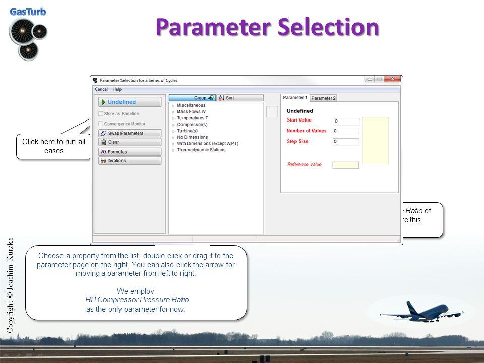 Parameter Selection Copyright © Joachim Kurzke