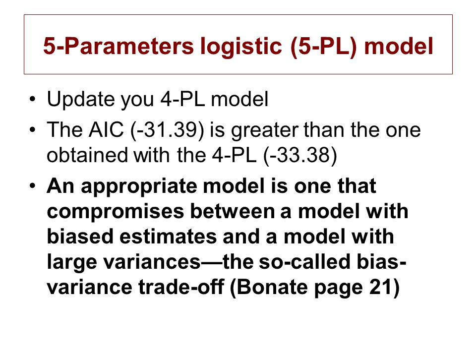 5-Parameters logistic (5-PL) model