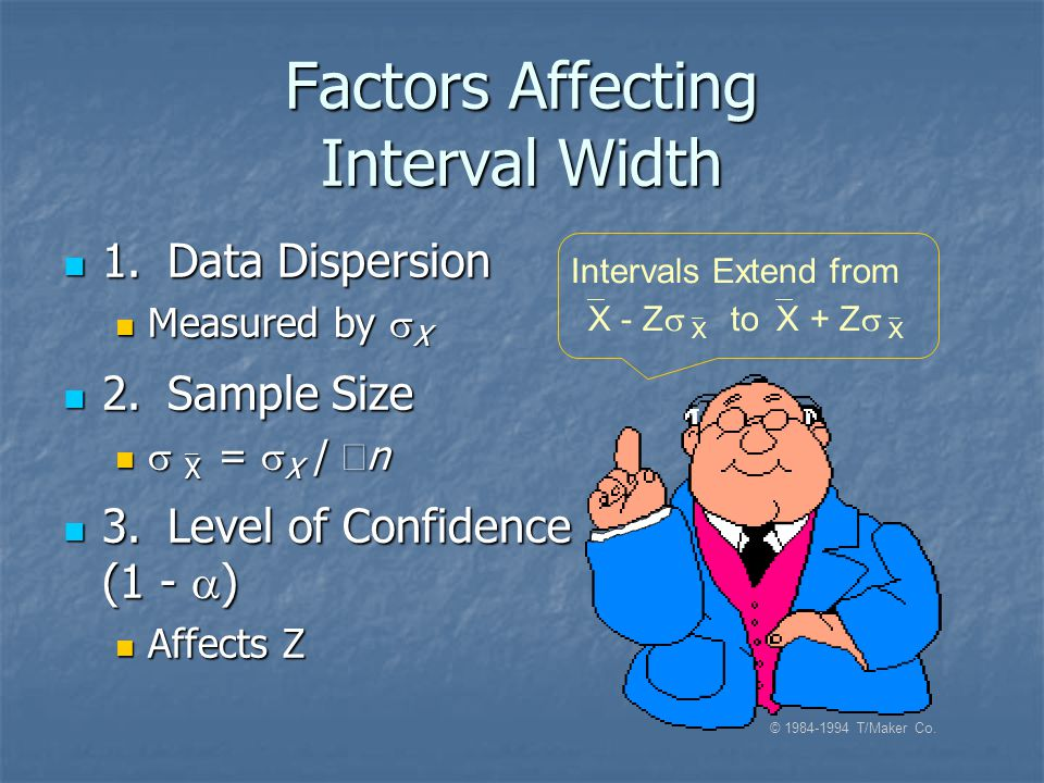 Factors Affecting Interval Width