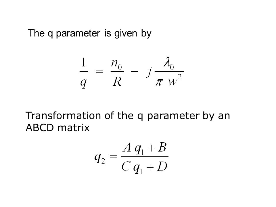 The q parameter is given by