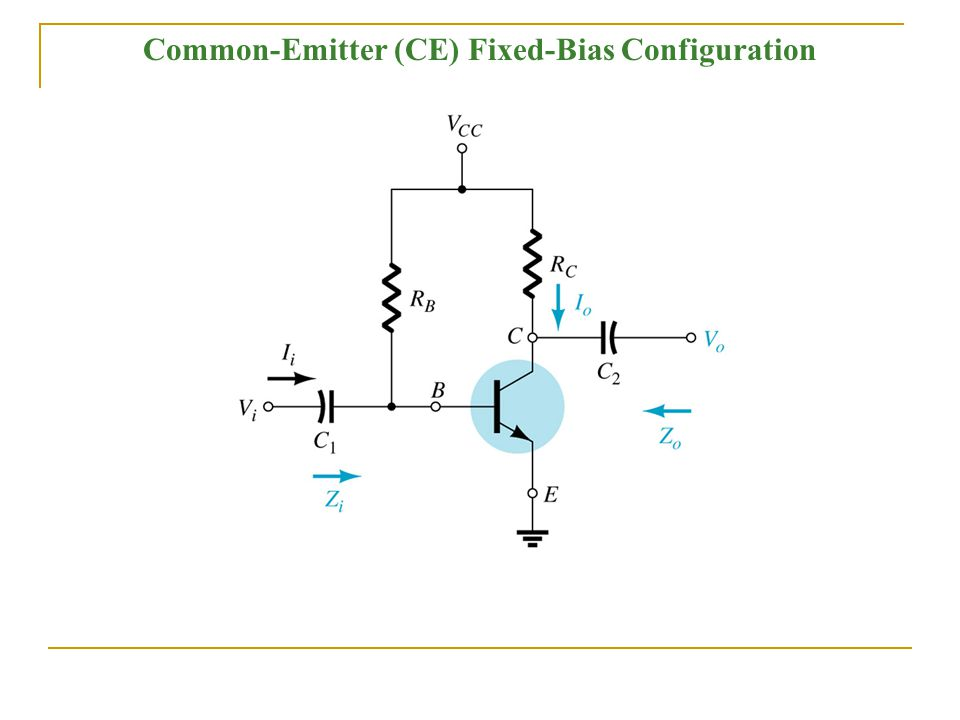 Common-Emitter (CE) Fixed-Bias Configuration