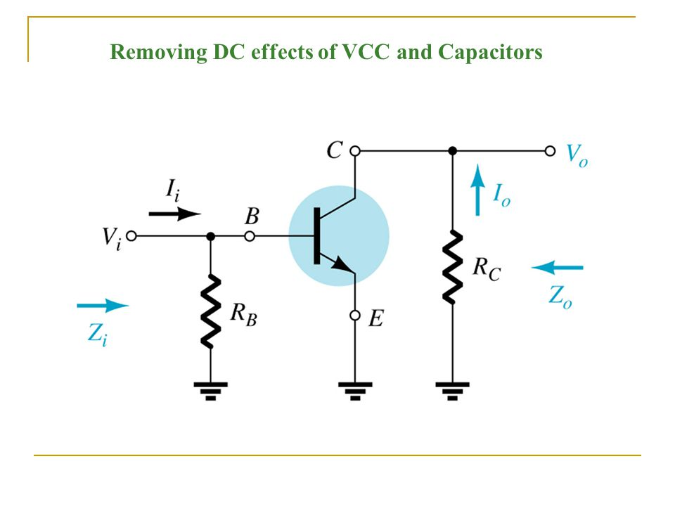 Removing DC effects of VCC and Capacitors