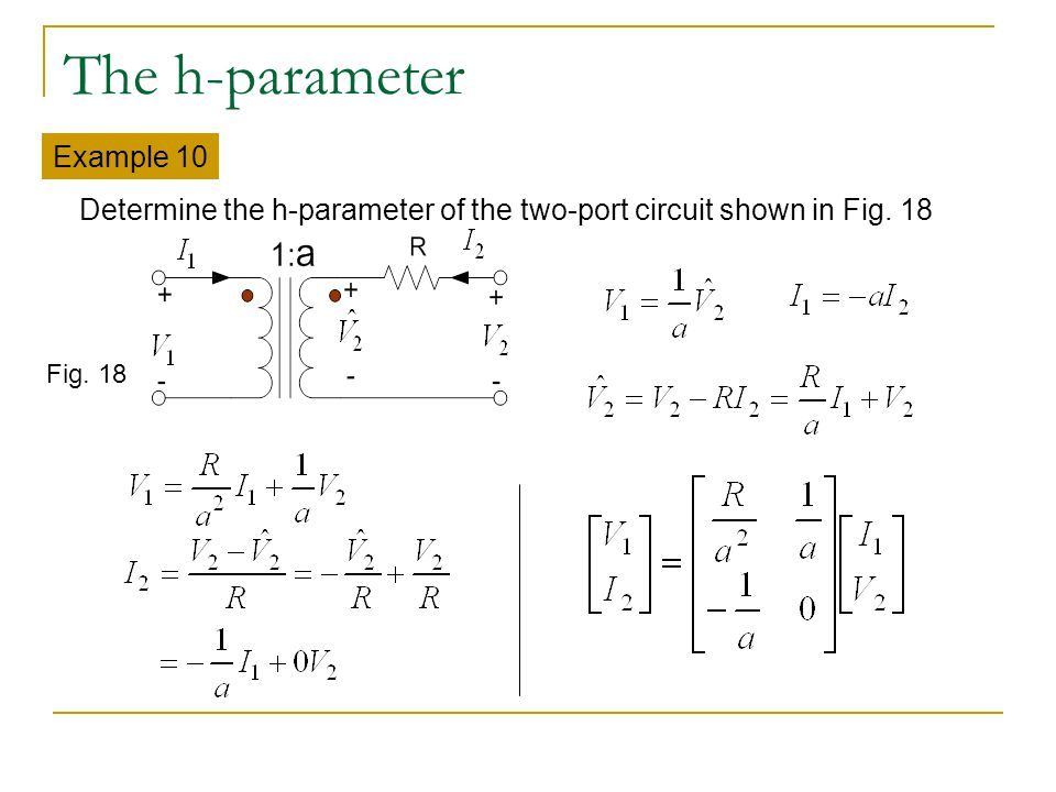 The h-parameter Example 10