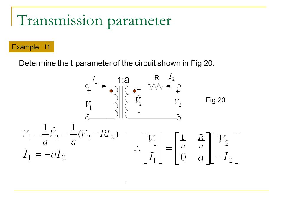 Transmission parameter