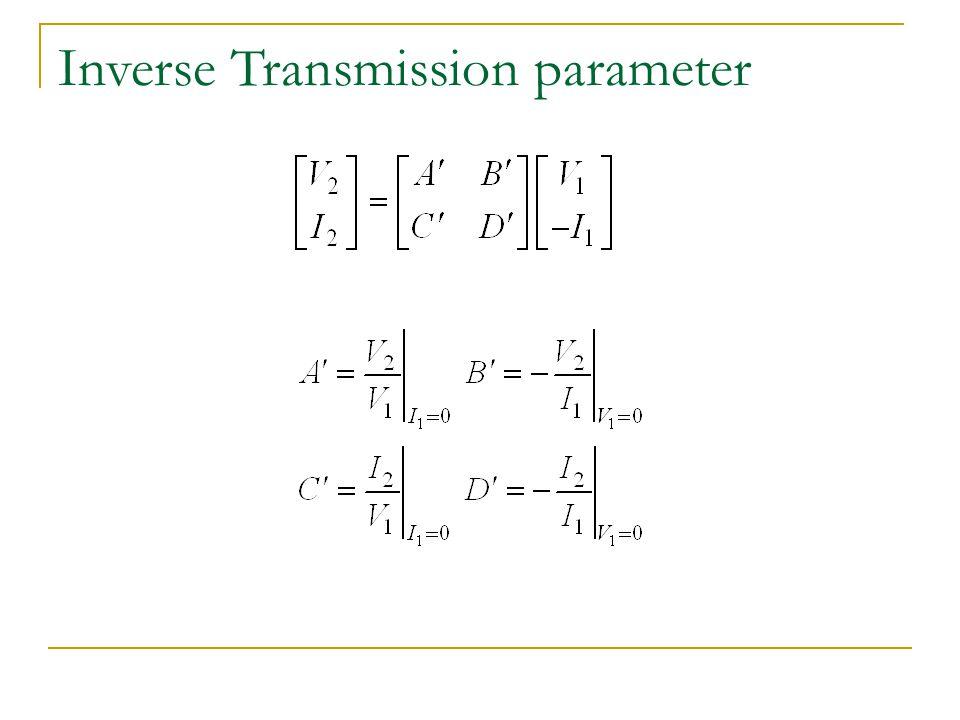 Inverse Transmission parameter