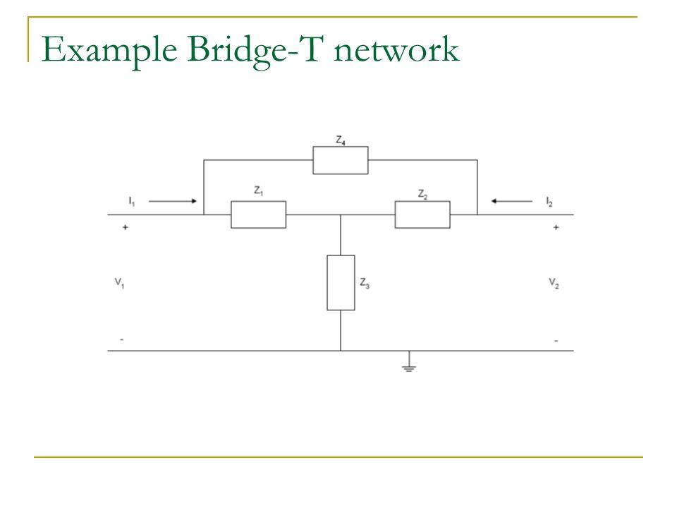 Example Bridge-T network