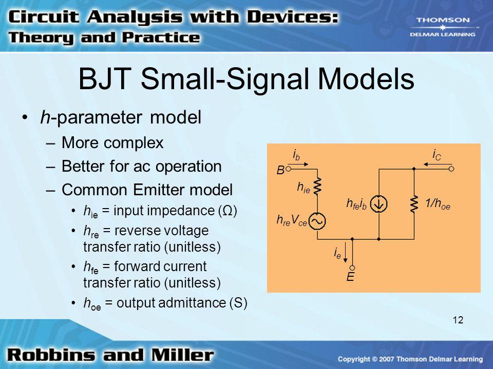 BJT Small-Signal Models
