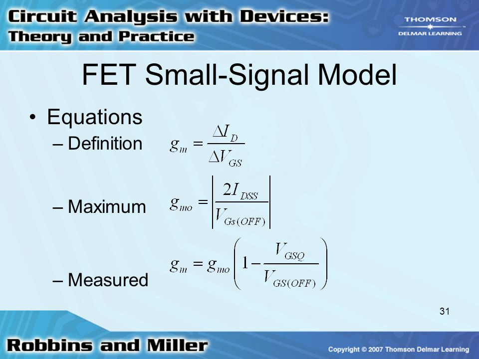 FET Small-Signal Model