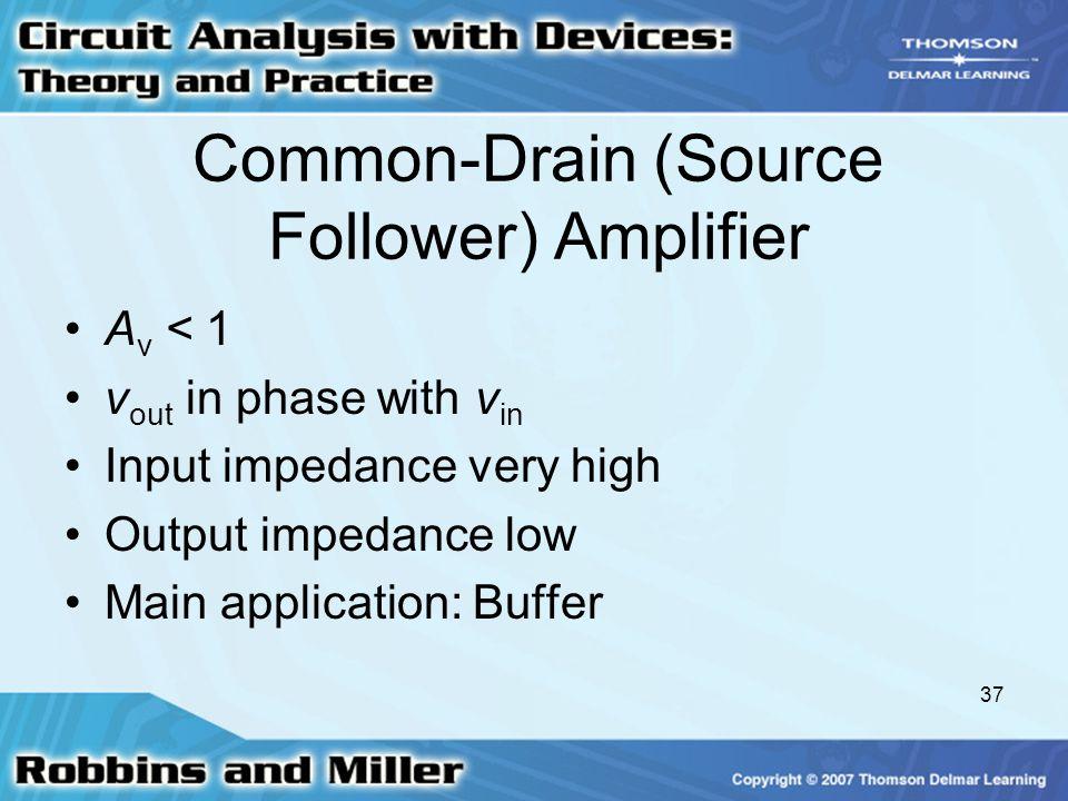 Common-Drain (Source Follower) Amplifier