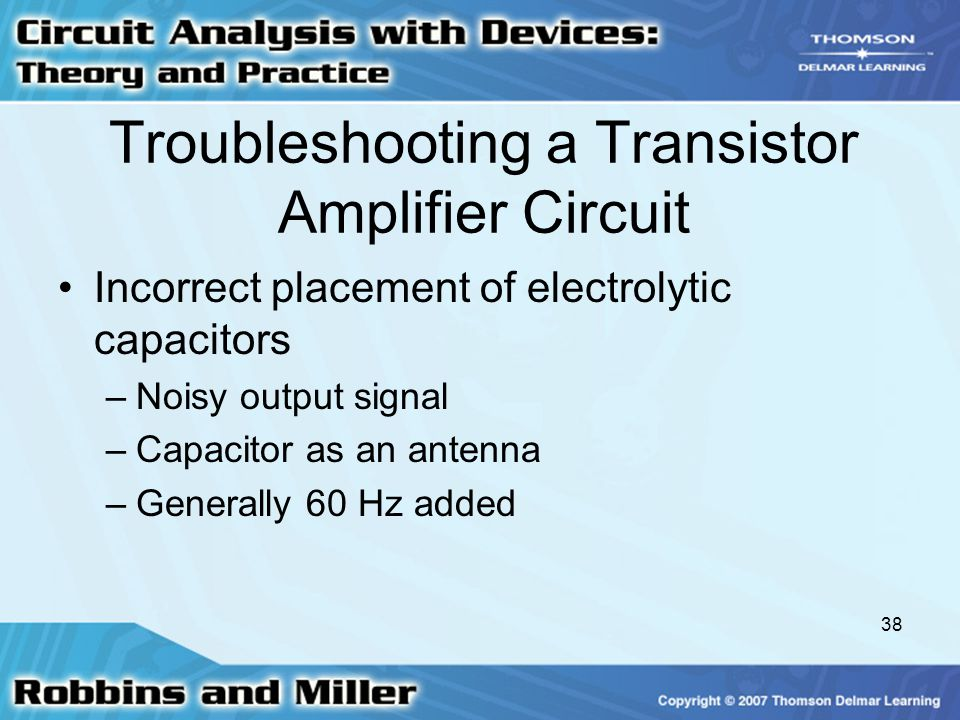 Troubleshooting a Transistor Amplifier Circuit