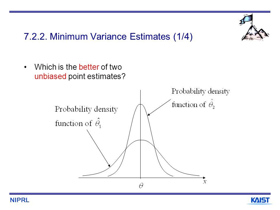 7.2.2. Minimum Variance Estimates (1/4)