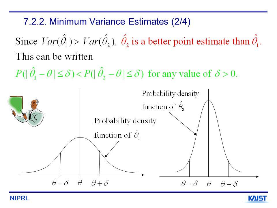 7.2.2. Minimum Variance Estimates (2/4)