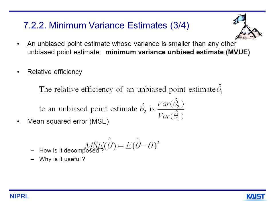 7.2.2. Minimum Variance Estimates (3/4)