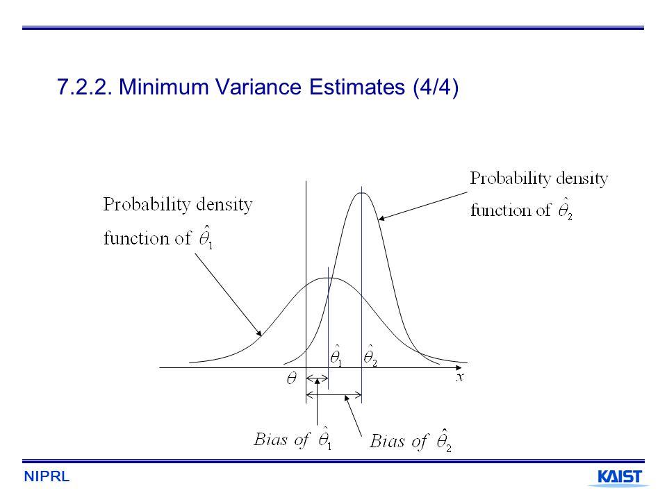 7.2.2. Minimum Variance Estimates (4/4)