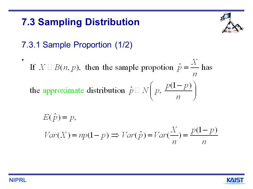 7.3 Sampling Distribution 7.3.1 Sample Proportion (1/2)