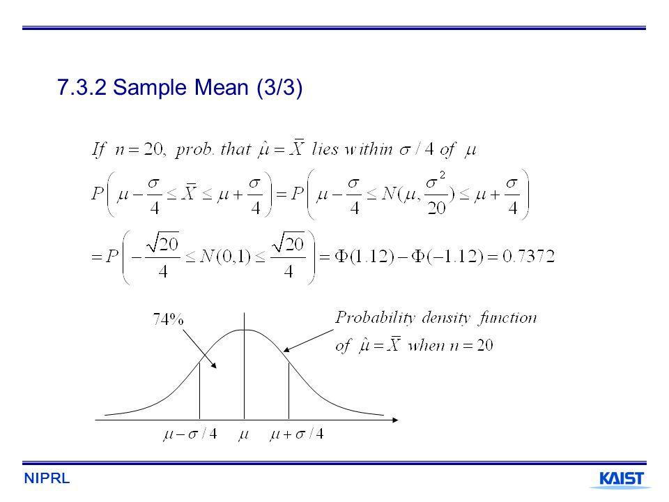 7.3.2 Sample Mean (3/3)