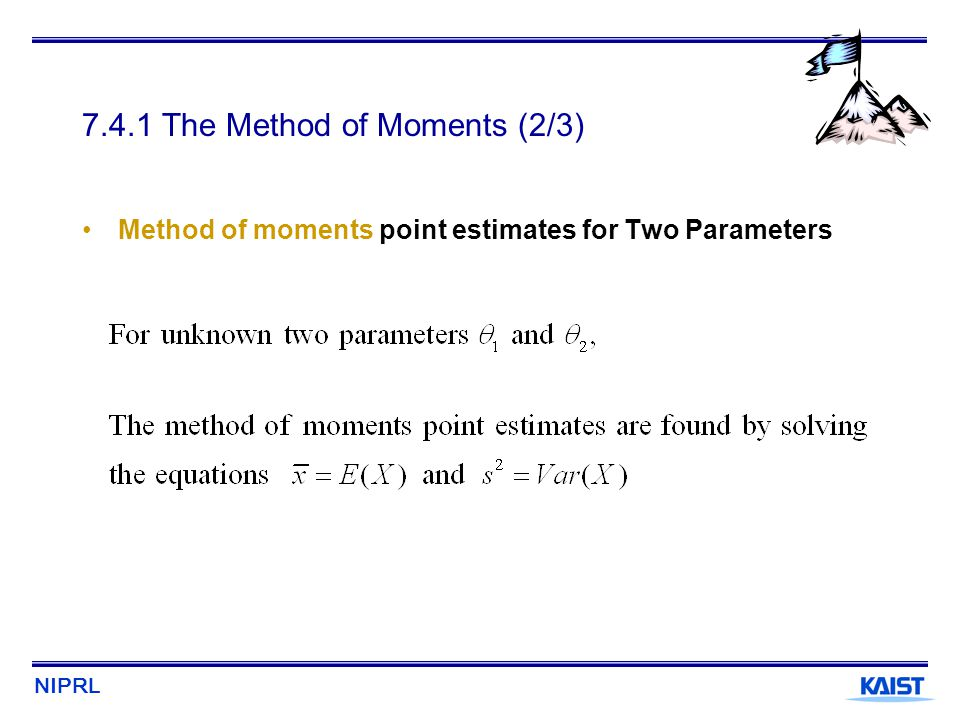 7.4.1 The Method of Moments (2/3)