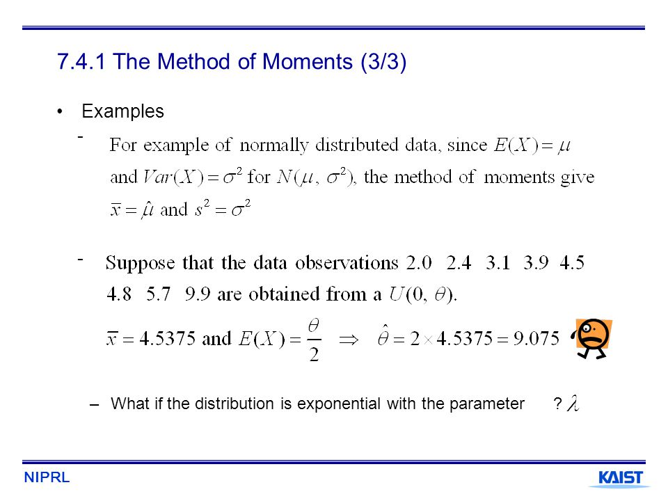 7.4.1 The Method of Moments (3/3)