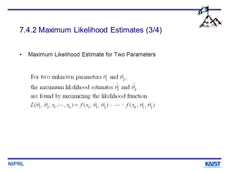 7.4.2 Maximum Likelihood Estimates (3/4)