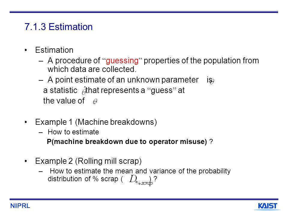 7.1.3 Estimation Estimation