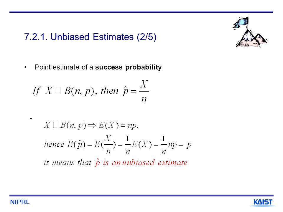 7.2.1. Unbiased Estimates (2/5)