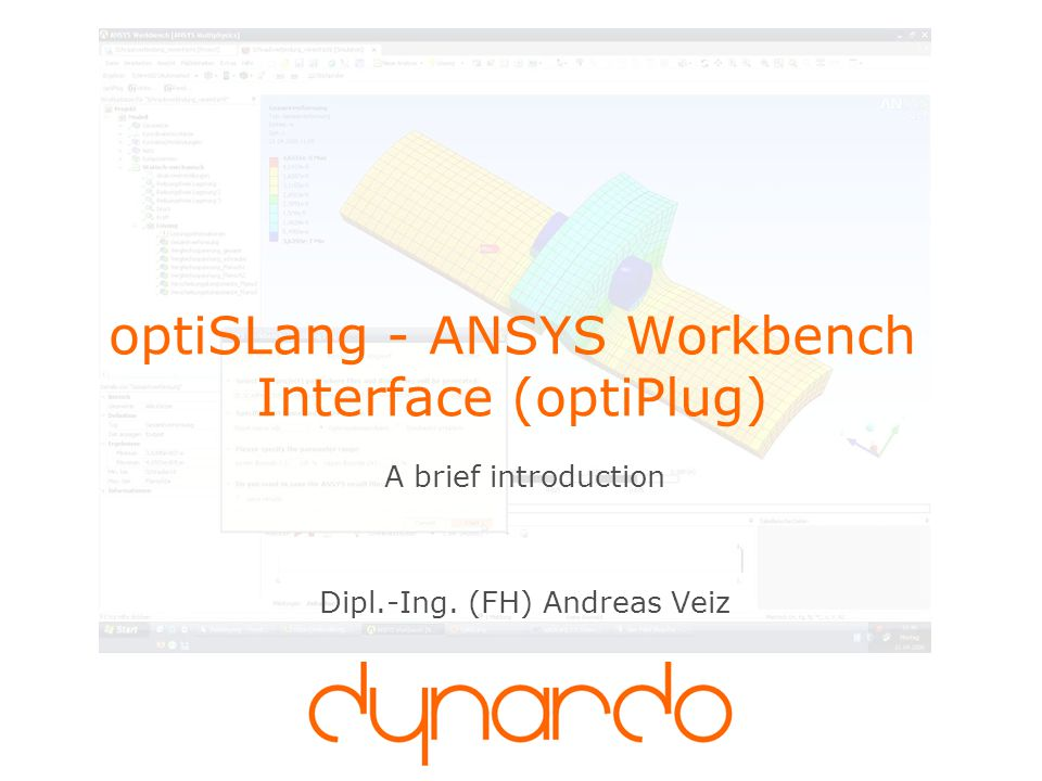 optiSLang - ANSYS Workbench Interface (optiPlug)