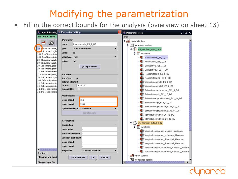 Modifying the parametrization