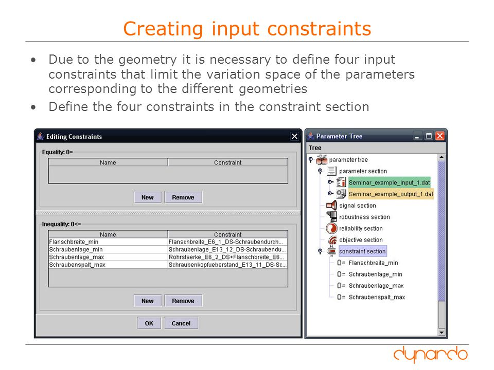 Creating input constraints