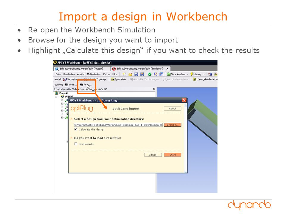 Import a design in Workbench